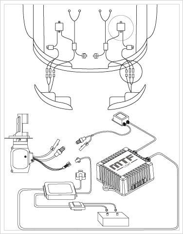 Схема подключения биксенона