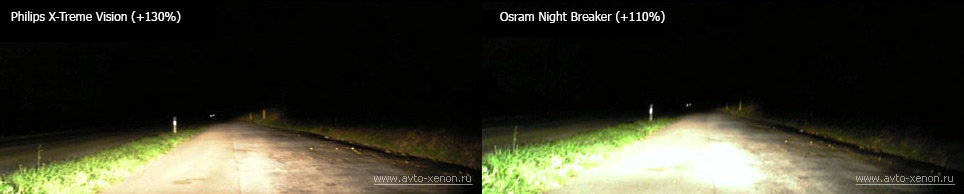 свет philips x-treme vision и osram night breaker unlimited